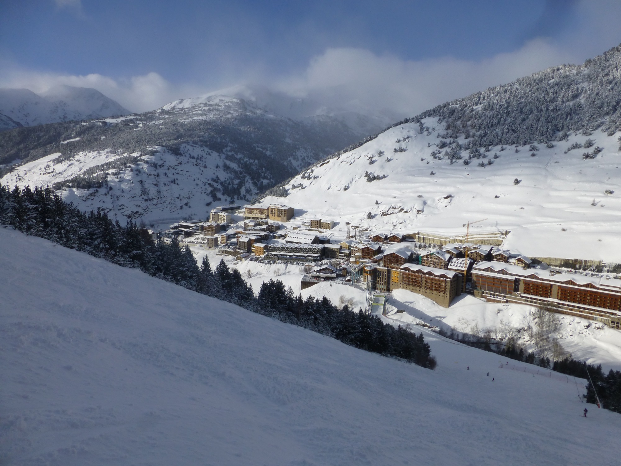 Soldeu, Andorra part of the Grandvalira Ski Domain.