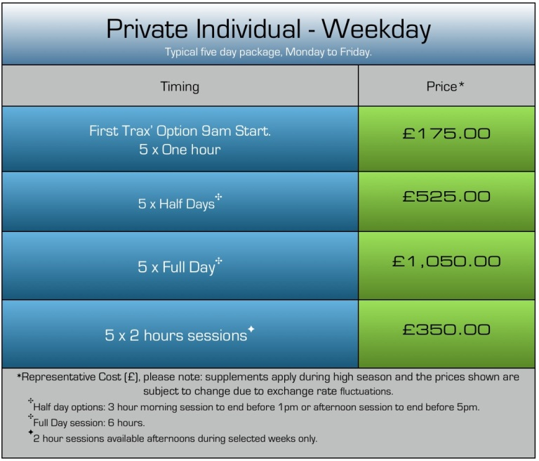 How much is a private ski lesson?